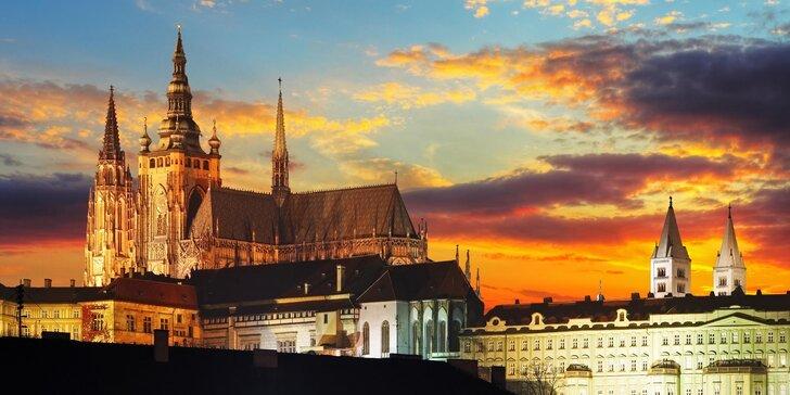 Zážitkový pobyt v Praze: romantické večeře i možnost prohlídky Pražského hradu