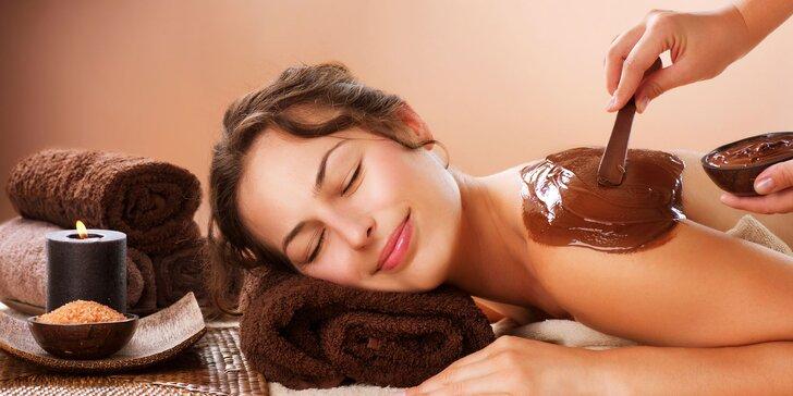 Relaxační balíček v délce 120 minut – kosmetika a čokoládová masáž