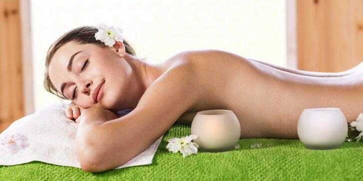 60minutová relaxační masáž celého těla nebo zad a šíje