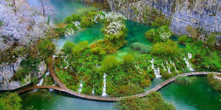 Zamrzlá Plitvická jezera, Slunjské vodopády a termálních lázně ve městě Ptuj