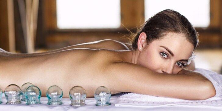 Klasická relaxační masáž s baňkami