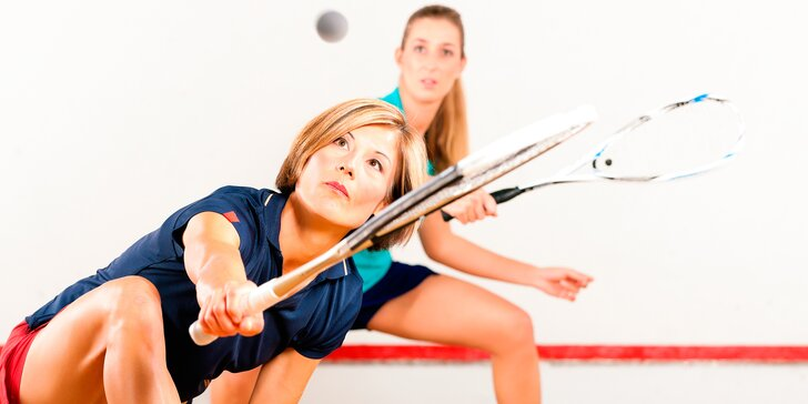 Dopolední rozcvička: Hodinový pronájem squashového kurtu
