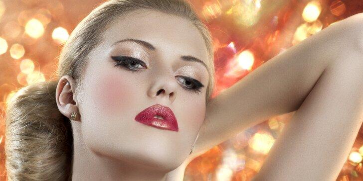 Staňte se královnou noci - Večerní líčení a hairstyling včetně zkoušky