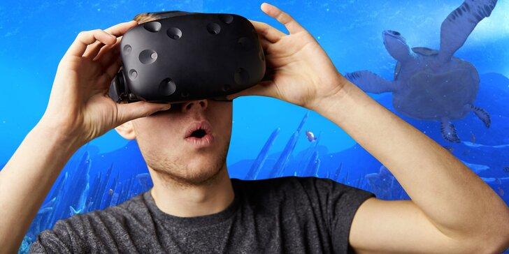 Vstupte do světa plného zážitků: 60 minut ve virtuální realitě až pro 4 hráče