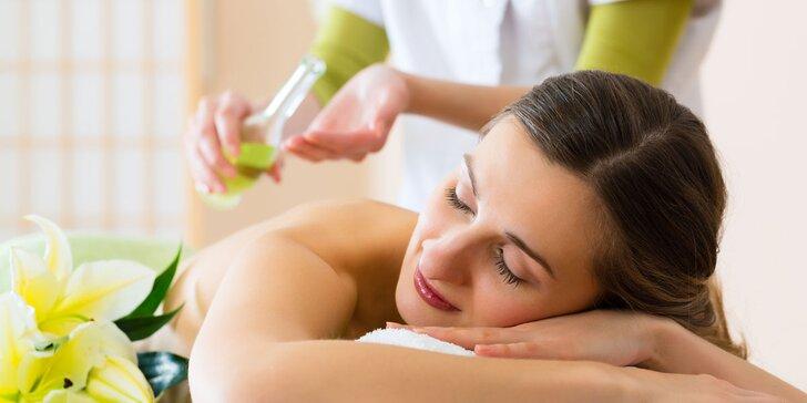 60minutová uvolňující masáž dle vlastního výběru