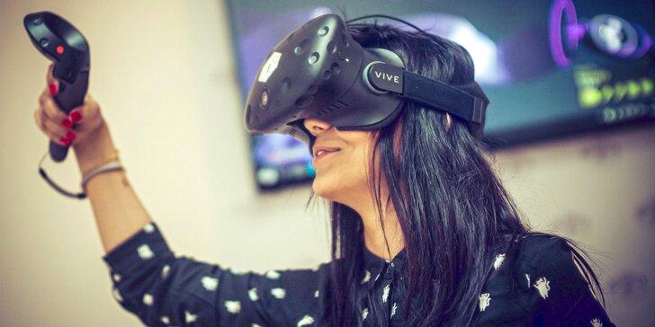 Vítejte v novém světě: 30 nebo 120 minut ve virtuální realitě až pro 5 kamarádů
