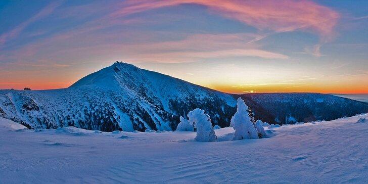 Zimní pobyt s polopenzí a v blízkosti skiareálu ve Velké Úpě v Krkonoších