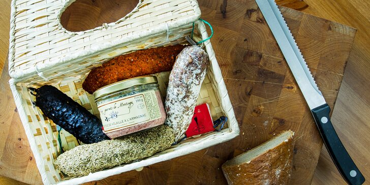 Delikatesy přímo z Francie: Sušené klobásy dle výběru nebo dárkový balíček