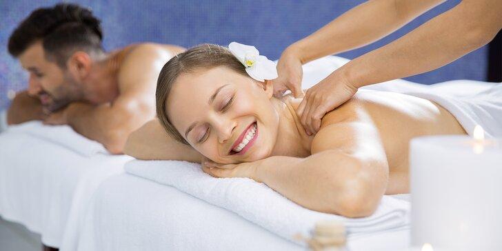 60minutová masáž pro 2 osoby dle výběru