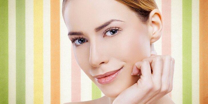 Kompletní kosmetické ošetření s úpravou obočí a masáží obličeje