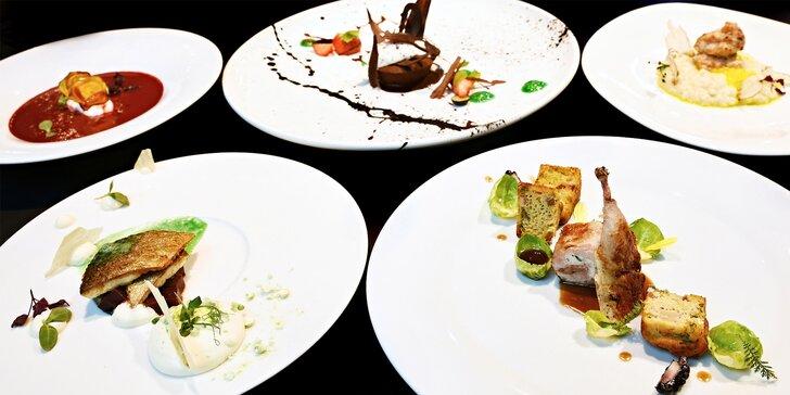 Výjimečný kulinářský zážitek: Degustační menu pro 2 podávané v rukavičkách