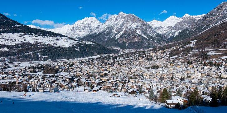 Lyžovačka v italském Bormiu: Doprava, skipas a horský hotel s polopenzí