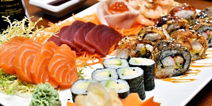 Sushi sety pro jednu nebo dvě osoby v restauraci Elements