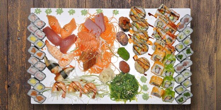 Jedna rolka vedle druhé: exkluzivní sushi menu s 29 až 79 kousky
