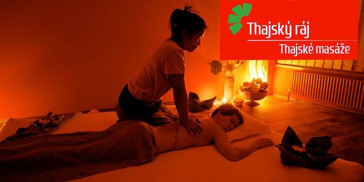 90 minut relaxu: Partnerská zlatá masáž a rybky Garra Rufa v Thajském ráji