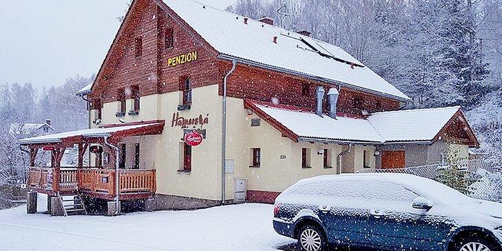 3-4denní relax či lyžovačka s polopenzí v Krušných horách pro dva