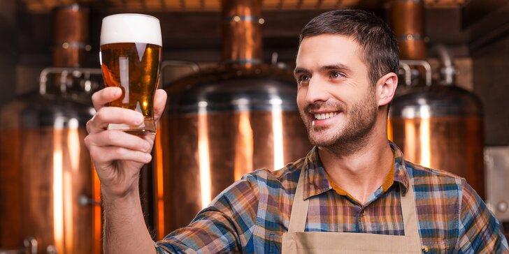 Kurz vaření piva pro 1 nebo 4 osoby včetně jídla, pití a piva na doma