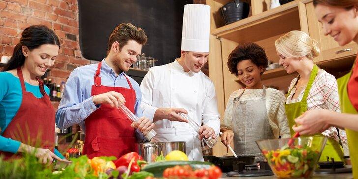 4hodinový kurz vaření ve známé škole Presto: Naučte se kouzlit za plotnou