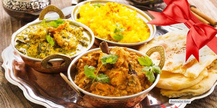Přehlídka barev a chutí: indické degustační menu pro dvě osoby