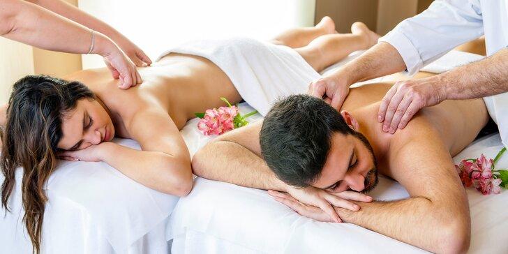 90 nebo 120 minut klasické relaxační masáže pro dva