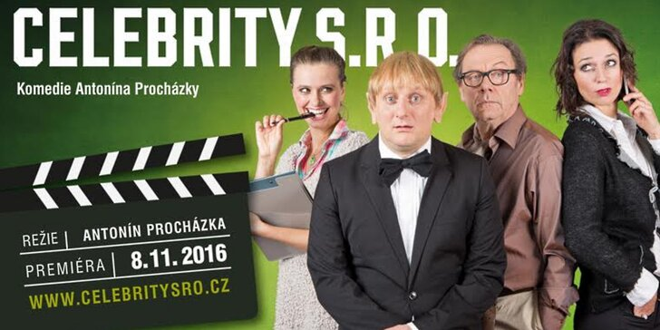 Vstupenka na divadelní komedii CELEBRITY S.R.O.