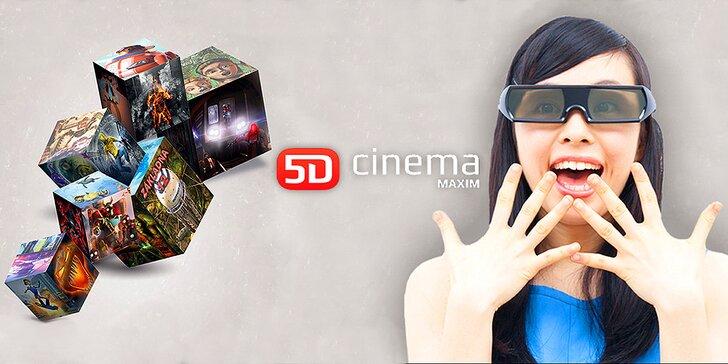 Mimořádná akce: vstupenka do 5D Cinema Maxim na zážitek mnoha dimenzí
