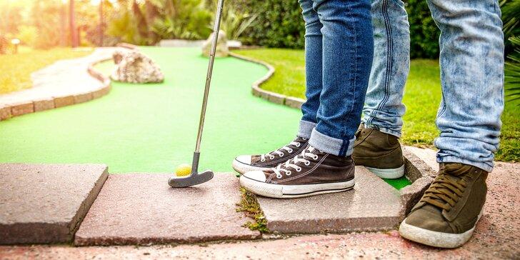 60minutová hra Adventure golfu pro dva v Jihlavě