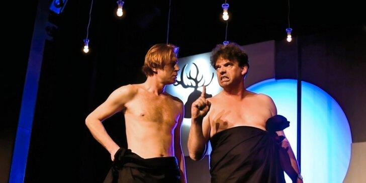 Vstup do Branického divadla na komedii Sebastiena Thieryho Dva nahatý chlapi