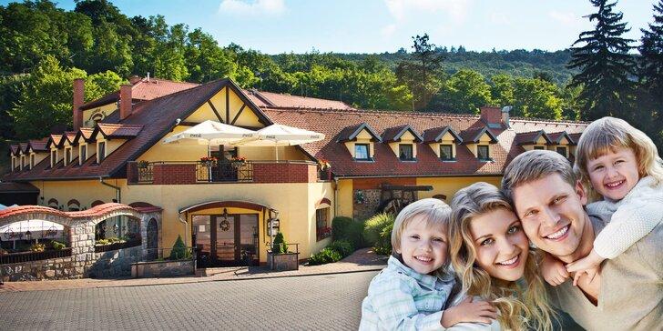 Rodinný pobyt pro 2 dospělé a 2 děti nedaleko Punkevních jeskyní