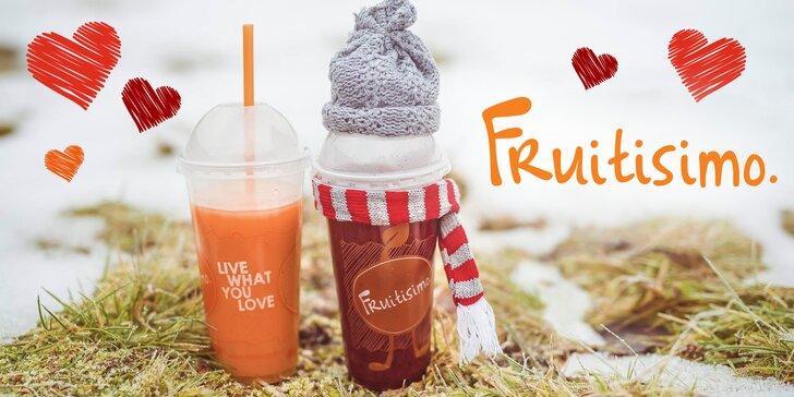 2 půllitrové drinky Fruitisimo plné lásky a zdraví – Srdcovka a Valentýn