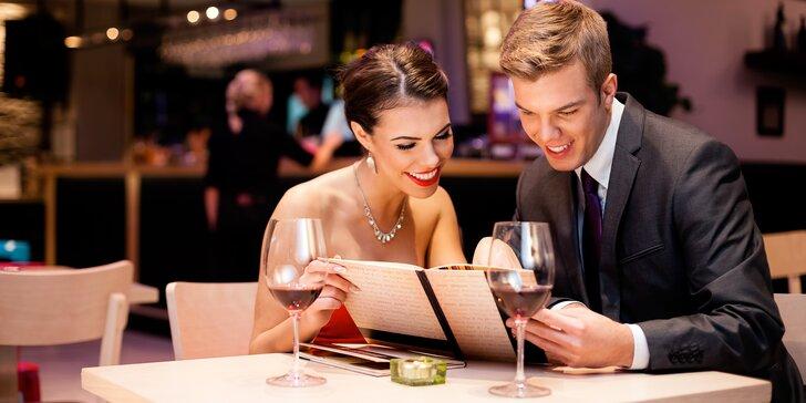 Romantické posezení ve dvou: tříchodové menu v centru Starého Města
