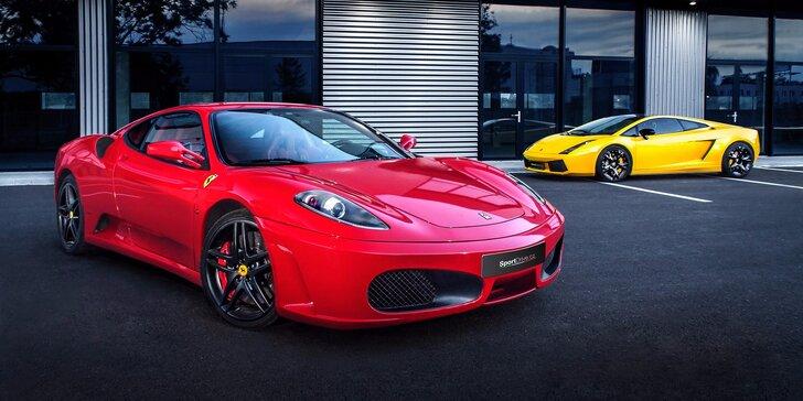 Jízda v nadupaném Ferrari F430 nebo v Lamborghini Gallardo včetně paliva