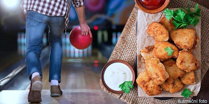 Bowlingová dráha až pro 8 hráčů vč. volitelné obří porce miniřízečků