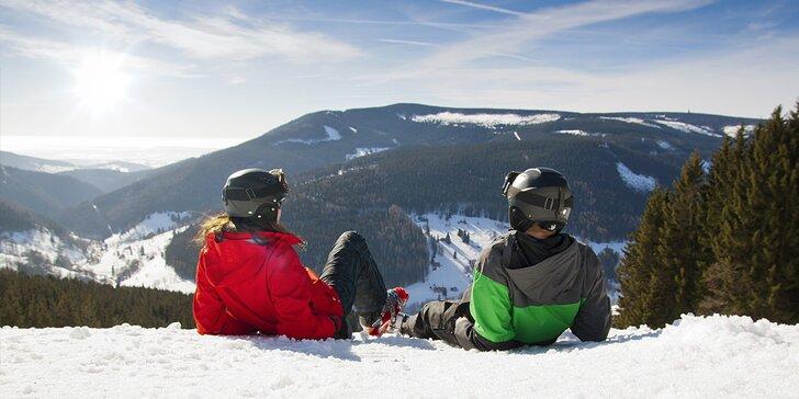 Poslední lyžovačka či jarní pobyt v Krkonoších vč. polopenze i vstupu do bazénu
