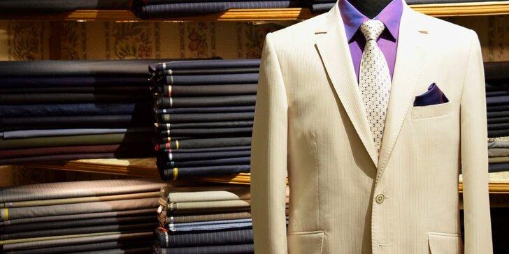 Záloha na ručně šitý pánský oblek na míru: špičková kvalita Bespoke Full Canvas