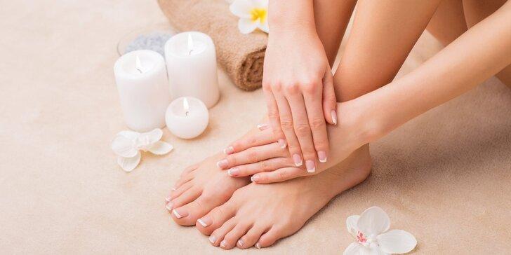 Blahodárná masáž se spa manikúrou nebo pedikúrou vč. lakování