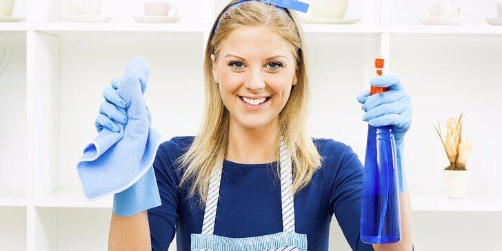 Profesionální kompletní úklid, mytí oken či žehlení v délce 3 hodin