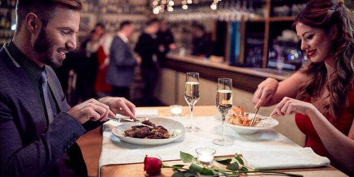 Romantická večeře pro 2: Vepřová panenka na lesních houbách a hruška na víně
