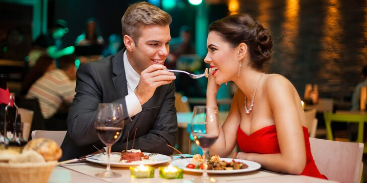 Romantické 3chodové menu pro dva: carpaccio, kuřecí steak a zmrzlina