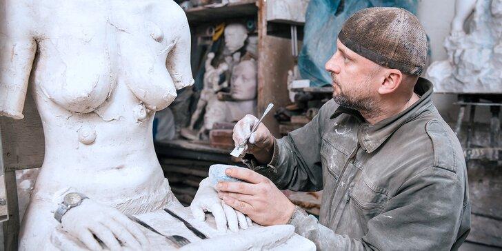 Sochařská dílna: víkendový kurz sochařství a modelování vč. materiálu a pomůcek