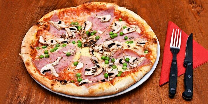 Ať vám to křupe: 1 nebo 2 lahodné pizzy dle výběru a 10% sleva na nápoje