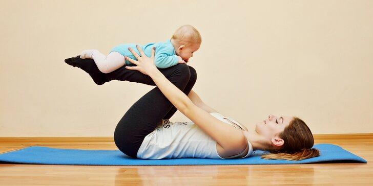 Lekce Babyjógy pro maminky s dětmi 4–12 měsíců s občerstvením