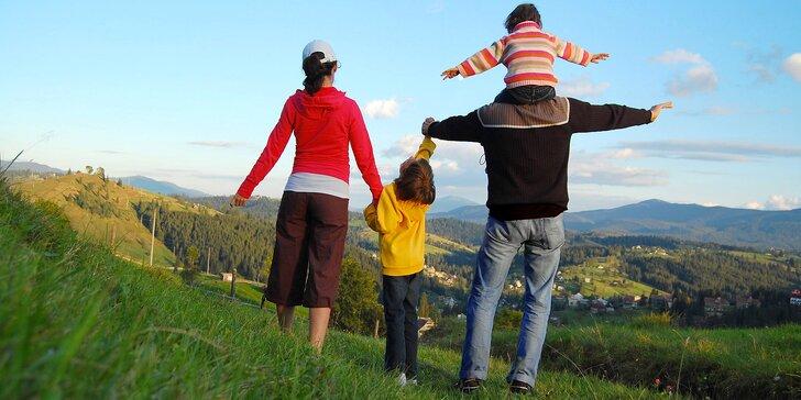 3 dny na Valašsku: pobyt s polopenzí a wellness pro 2 dospělé a 2 děti do 12 let