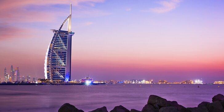 Letecky do Dubaje: 4 noci v hotelu s bazénem, výlety do pouště i za zábavou