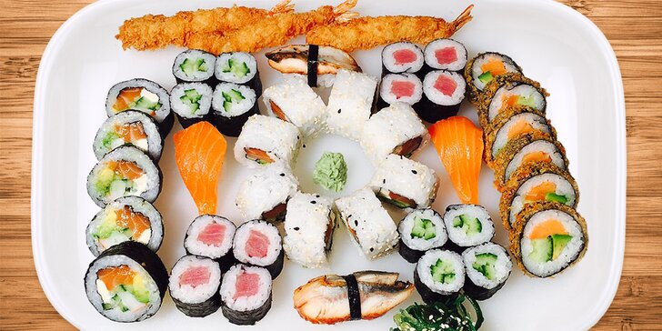 To nejlepší z Asie: Lákavý sushi set až pro 4 labužníky v restauraci Lumio