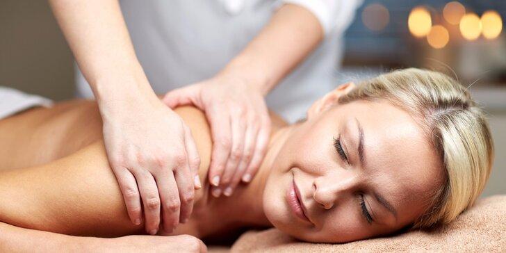 Uvolňující relaxační masáž včetně masáže obličeje