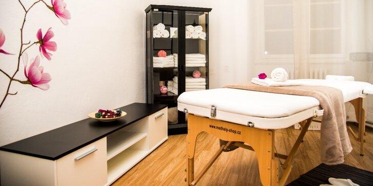 Hodinová masáž dle vašeho výběru ze 3 druhů masáží