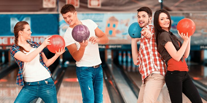 Hodinová hra bowlingu pro partu až 8 kamarádů
