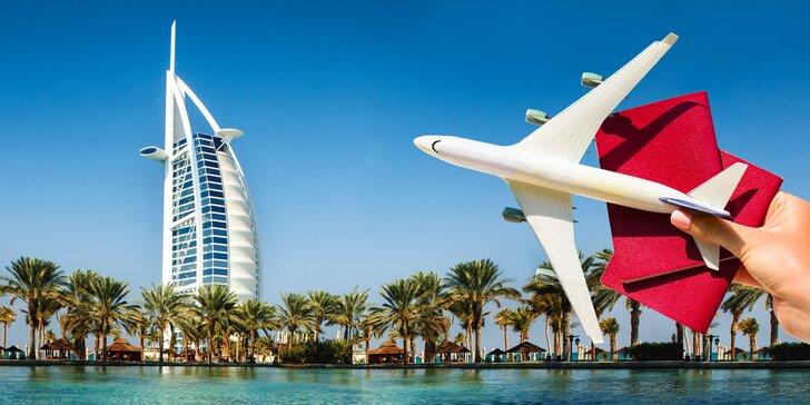 Zpáteční letenka do exotické Dubaje z Prahy nebo Ostravy – březen až květen