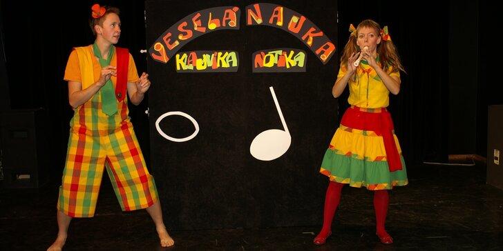 Vstupenka na dětské představení Veselá nauka klauníka Notíka